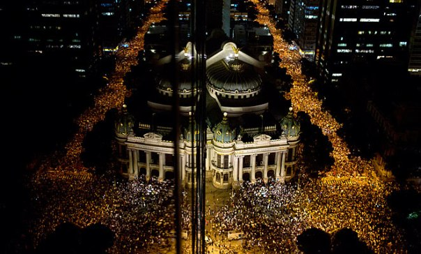 Over 200,000 protesters swarmed throughout many of Brazil's major cities.