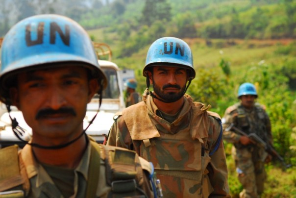 UN soldiers in the DRC.
